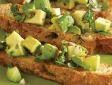 Weight Loss Appetizer Recipe: Avocado Chimichurri Bruschetta