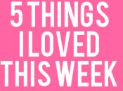 Things This Week