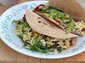 Vegetarian Tacos with Pinto Beans Cheese