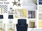 Navy Yellow Guest Room