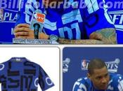 Carmelo Anthony Jill Sander Crewneck Sweater During Game 6...