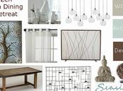 Zen/Spa Retreat Living Dining Room Mood Board Ways!