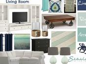 Sand Beachy Living Room Navy Turquoise!