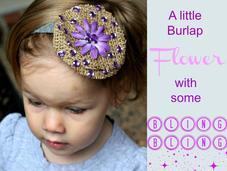 Easy Burlap Flower Hair Clip
