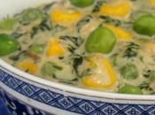 Methi Makai Matar Malai (sweet Corn Peas Creamy Fenugreek Curry)