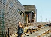 Modernist L-Shaped Charred Cedar Cabin Alaska