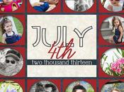 Free July Storyboard/Collage Template (holds Photos)