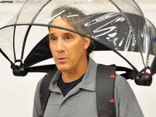 Weird-looking Hands-free Umbrella Hoping Kickstart with Crowdfunding