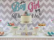 Pink Blue Chevron Themed Gender Reveal Baby Shower Sugar Sweet Buffets