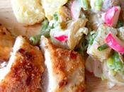 Oven Fried Picnic Chicken Creamy Garden Potato Salad