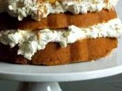 Coconut Pound Cake with Pineapple Swiss Meringue Buttercream