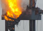 Hercules Jackup Ablaze Gulf Mexico