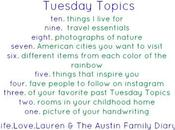 Tuesday Topics: Things Live