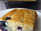 Blueberry Cake with Brown Sugar Sauce