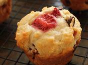 Strawberry Buttermilk Chocolate Chip Muffins