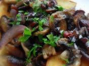 Mushrooms Toast with Garlic, Pancetta Oregano
