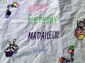Emboridered Birthday Tablecloth