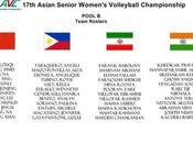 17th Senior Women's Pool Team Roster