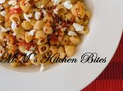 Pasta with Roasted Yellow Pepper, Tomatoes Feta...quick Lunch/dinner