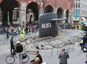 Submarine Surfaces Middle City Street Milan