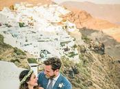 Summer Romantic Wedding Santorini with White Peonies Roses Georgia Ilias
