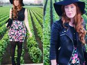 Leather Biker Jacket Peplum Skirt (Outfit)