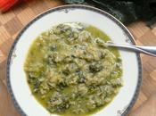 Savoy Cabbage, Swiss Chard, Rice Pesto Stew