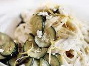 Tagliatelle with Cream Sauce Zucchini