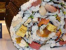 Japanese Restaurant Serves World's Largest Sushi Portions
