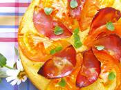 Savory Polenta Cake with Ricotta-Italian Ham-Tomato Fresh Oregano Leaves--And Thoughts Challenges
