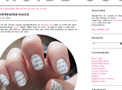 Newspaper Nails Topshop Blog!