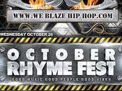 "Blaze Brings ""October Rhyme Fest"" Oct. 26th"