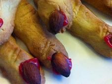 Halloween Witch Fingers Biscuits