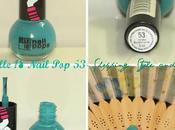 Review Swatches Elle Nail Pretty, Muted Shade From Color Cyan Family)