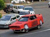 Artist Turns Into Supercar With Cardboard Ferrari Replica