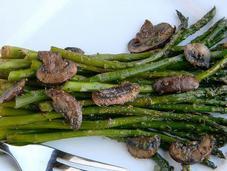 Stir Fried Asparagus With Mushroom Recipe