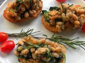 Crostini with Jumbo Prawns, Rosemary Cannellini Beans