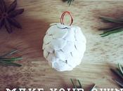 Air-dry Clay Pine Cone Tutorial