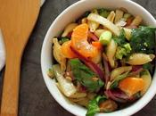 Spinach Mandarin Pasta Salad with 5-spice Honey Dressing, Recovery
