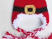 Free Crochet Pattern: Newborn Santa Earflap