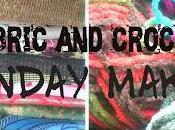 Material Mondays Blue Cream Crochet Necklace