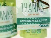 squeeZ Applesauce Valentines 'Thanks Being Awesomesauce' {Free Printable}