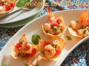 Ceviche with Chipotle Pepper Corn Tortilla Boats