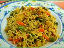Mint-coriander pulao(Chutney Chawal)