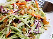 Broccoli Slaw Salad with Honey -Mustard Yogurt Dressing