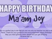 Happy Birthday Ma'am Joy!