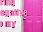 """Words Maya Angelou, """"Don't Bring Negative Door."""""""