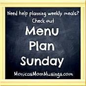 Menu Plan Sunday: April