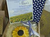 Boxed Sunflower Themed Bachelorette Party Invite