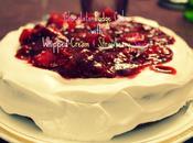 Chocolate Fudge Cake with Whipped Cream Strawberry Sauce...